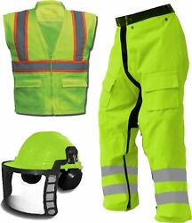 Ahlborn Forester Ultimate Chainsaw Kit, Includes Chainsaw Chaps, Forestry Hel...