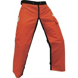 Forester Chainsaw Apron Chaps With Pocket, Orange 37 Length By Forester