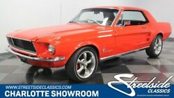 1967 Ford Mustang  classic vintage chrome stang FoMoCo red restored black vinyl interior red paint