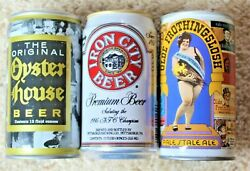 Three 3 Iron City Steel Beer Cans Blitzburgh/oyster House/olde Frothingslosh