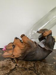 Pedigree Yorkie Wine Bottle Holder Whimsical Statue By DWK Corp~NEW~