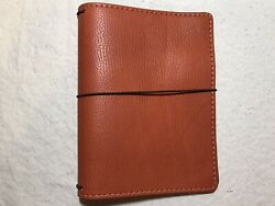 New Chic Sparrow Pemberley Marigold Classic B6 Travelers Notebook Orange Leather