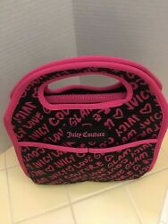 Juicy Couture Lunch Tote Bag Insulated Pink Glam Signature
