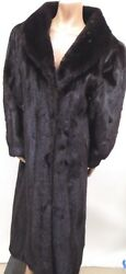 Marshall Field's Women's Full Length Dark Brown Saga Mink Fur Coat Medium MINT!