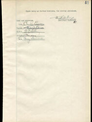 Thomas A. Edison - Document Signed Circa 1925 Co-signed By Charles Edison