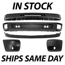 New Front Bumper Face Bar Kit For 2007-2013 Chevy Silverado 1500 Series W/ Fog