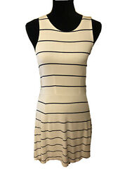 Abercrombie & Fitch Nautical Striped Skater Dress in White and Navy Stripe M