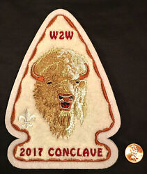 Oa Bsa Order Arrow 2017 Section W2w Conclave 508 520 535 407 Chenille Back Patch