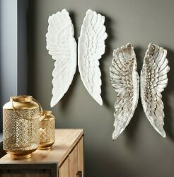 Antique White Polyresin Angel Wings