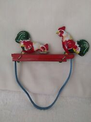 Tin Toy Rooster Hand Moving Roosters Pecking Mechanical Toy