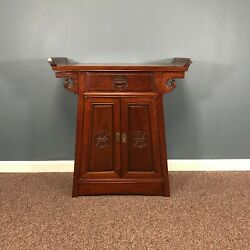 Vintage Chinese Hardwood Commode Alter Cabinet