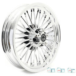 Chrome 16 3.5 Rear Wheel Fat Spoke Dyna Softail Touring 84-07 Fxdwg Fxst Fxdl