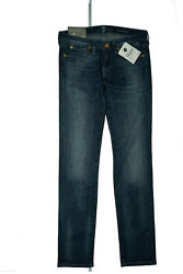 7 For All Mankind Roxanne Women's Jeans Stretch Slim Pant GR.27 W29 L30 Blue New