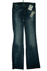 7 For All Mankind Kaylie Ladies Bootcut Stretch Jeans Rivets Pants W27 L34 Blue