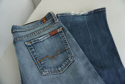 7 For All Mankind Women's Jeans Stretch Trousers 2832 W28 L32 Used Blue ad5