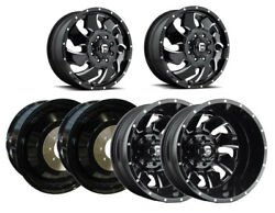 6 Fuel Off-road D574 Cleaver G-black Milled F/r/i Dually Wheels 8x6.5 20x8.25