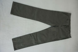 7 For All Mankind Chinos Ladies Stretch Jeans Trousers 3128 W31 L28 Khaki Oliv