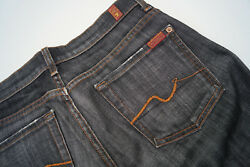 7 For All Mankind Bootcut Ladies Stretch Jeans Trousers 3034 W30 L34 Used Look