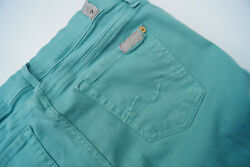 7 Seven for all Mankind Skinny Women's Stretch Jeans Trousers W27 L30 Mint Green