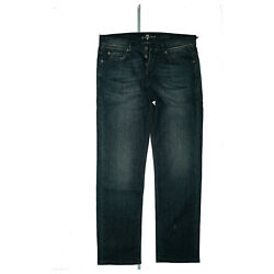 7 For All Mankind Jared Women's Jeans Stretch Trousers 2832 W28 L32 Used Blue