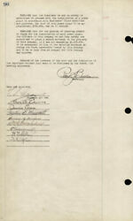 Thomas A. Edison - Corporate Minutes Page Signed With Co-signers