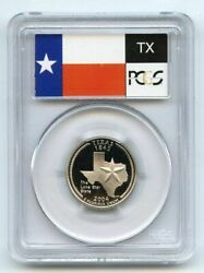 2004-s 25c Texas Clad State Flag Label Quarter Proof Coin Pcgs Pr70 Dcam
