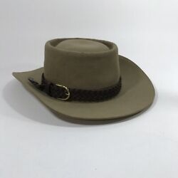Vintage Stetson 3x Beaver Western Hat Tully's Brown Leather Braid With Box