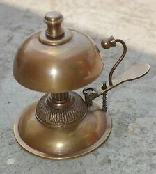 Antique Style Ornate Solid Brass Hotel Counter Desk Call Service Desk Bell