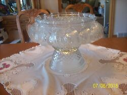 Wexford Anchor Hocking Diamond Point 39 Piece Service For 18 Vtg. Punch Bowl Set