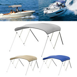 3 Bow Boat Bimini Top Cover With Boot Rear Poles 6ft Waterproof Uv Protection