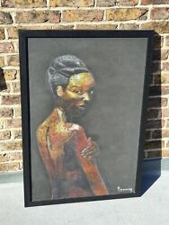 Contemporary African Painting Of A Woman By A Kenyan Artist