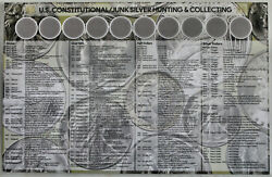 U.s. Constitutional Junk Silver Hunting And Collecting Coin Sorting Mat