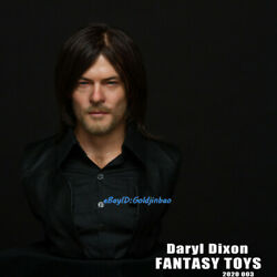 The Walking Dead 1/2 Scale Bust Of Daryl Dixon In Stock High-q New Silica Gel