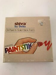 SHIVA Vintage Artists Oil paintsticks 6 traditional colors by Delta NEW amp; Sealed