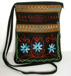 Embroidery Flower Crossbody Bag Purse Travel Women $10.00
