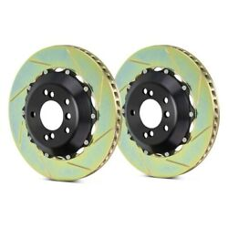 For Ferrari F40 90-91 Brembo Gt Series Slotted 2-piece Front Brake Rotors