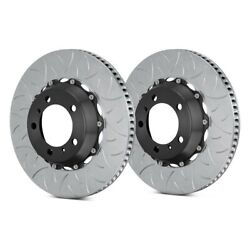 For Porsche 911 10-11 Brake Rotors Gt Series Curved Vane Type Iii Slotted