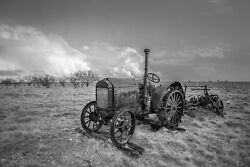 Farm Photography Print - Black And White Picture Of Mccormick-deering Tractor