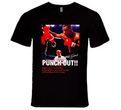 Mike Tysonand039s Punch Out Box Art Retro Video Game T Shirt