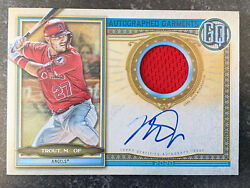 2020 Topps Gypsy Queen Mike Trout Autographed Jersey Serial 04/10 Angels