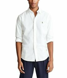 Polo Ralph Lauren Untucked Fit White Chambray Oxford Shirt SPRING20