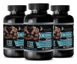 Creatine Monohydrate Powder 3x 5000mg Hcl Sports Supplements 270 Capsules 3 Bot