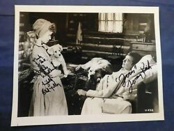 Tommy Kirk And Beverly Washburn Signed 8 X 10 Black And White Photo With Coa