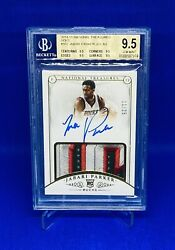 2014-15 National Treasures Gold Jabari Parker Rpa Rookie Patch Auto /25 Bgs 9.5