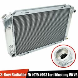 Fit 79-93 Ford Mustang V8 V6 Lx Gt Cobra 3-row Full Aluminum Racing Radiator Mt