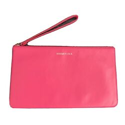 Clutch Bimba Y Lola Piel Natural Color Fucsia $75.00