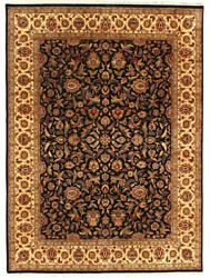 9x12 Handmade Wool Area Rug Hand Knotted And039auraand039 Agra Classic New Office Carpet