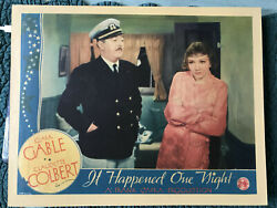 It Happened One Night 1934 Columbia 11x14 Comedy Lobby Card Claudette Colbert