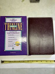 Niv 1984 Thinline Bible - Burgundy Bonded Leather - Used -marks Highlights