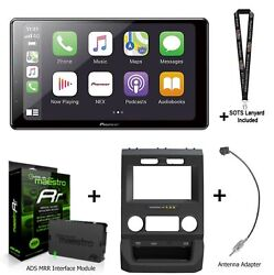 Pioneer Dmh-wc6600nex 9 Multimedia Receiver Ads Kit-ftr1 For Ford Pickups
